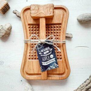 Набор доска и молоток для отбивания мяса, рыбы