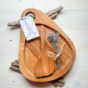 Набор доска с лопаткой для подачи мяса и рыбы