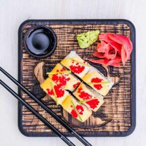 Доска для подачи суши/роллов «черепаха».