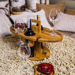 Винный стол на 4 бокала и 2 бутылки (Арт. В11)