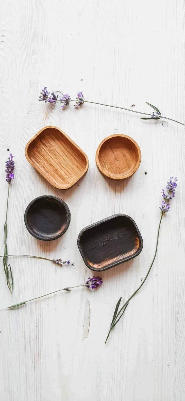 Деревянная посуда — дубовый соусник